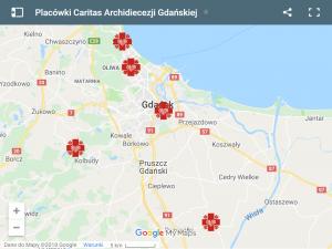 Mapa placówek