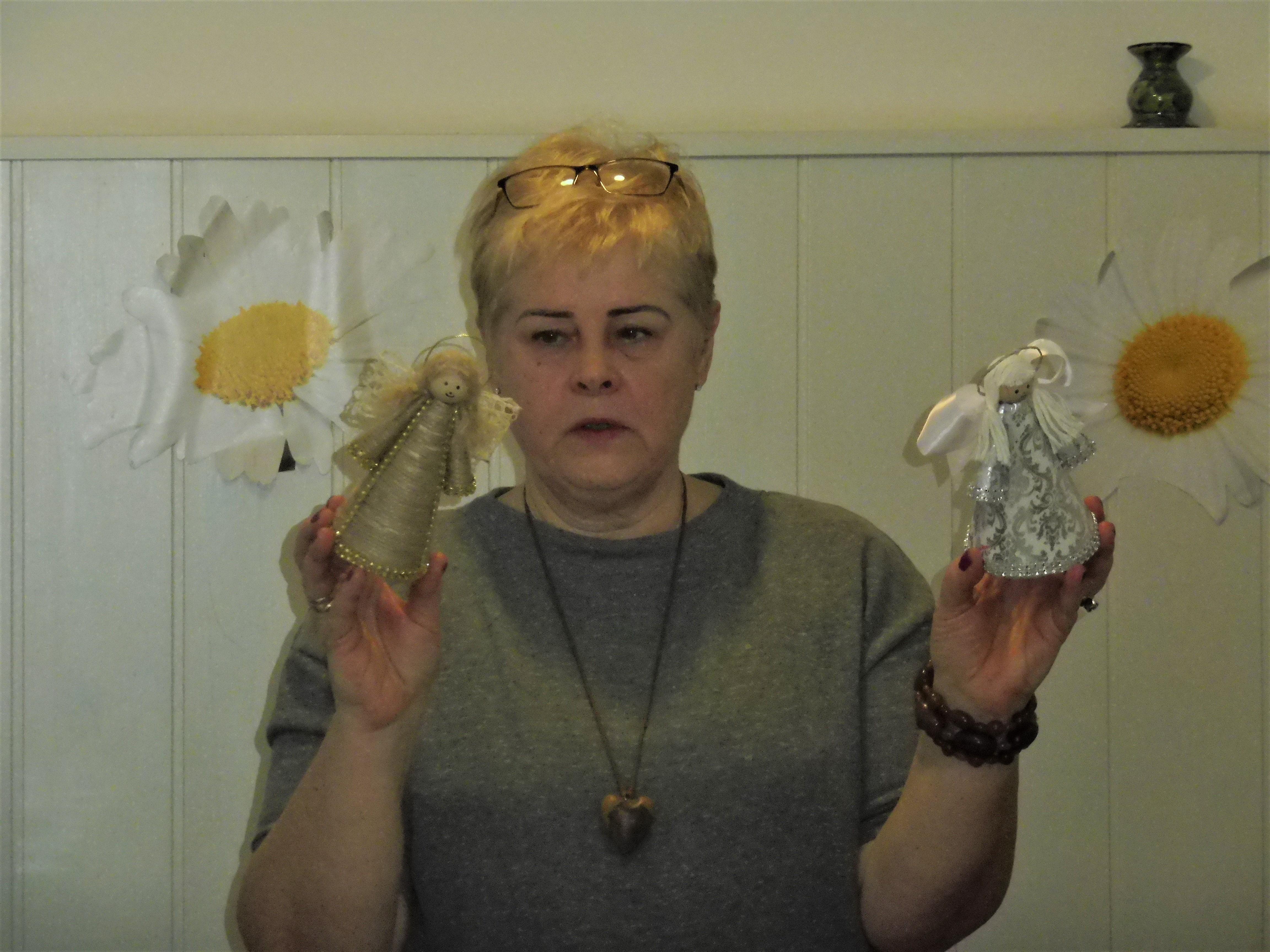 Figurki Anioła Stróża wykonane z różnych materiałów
