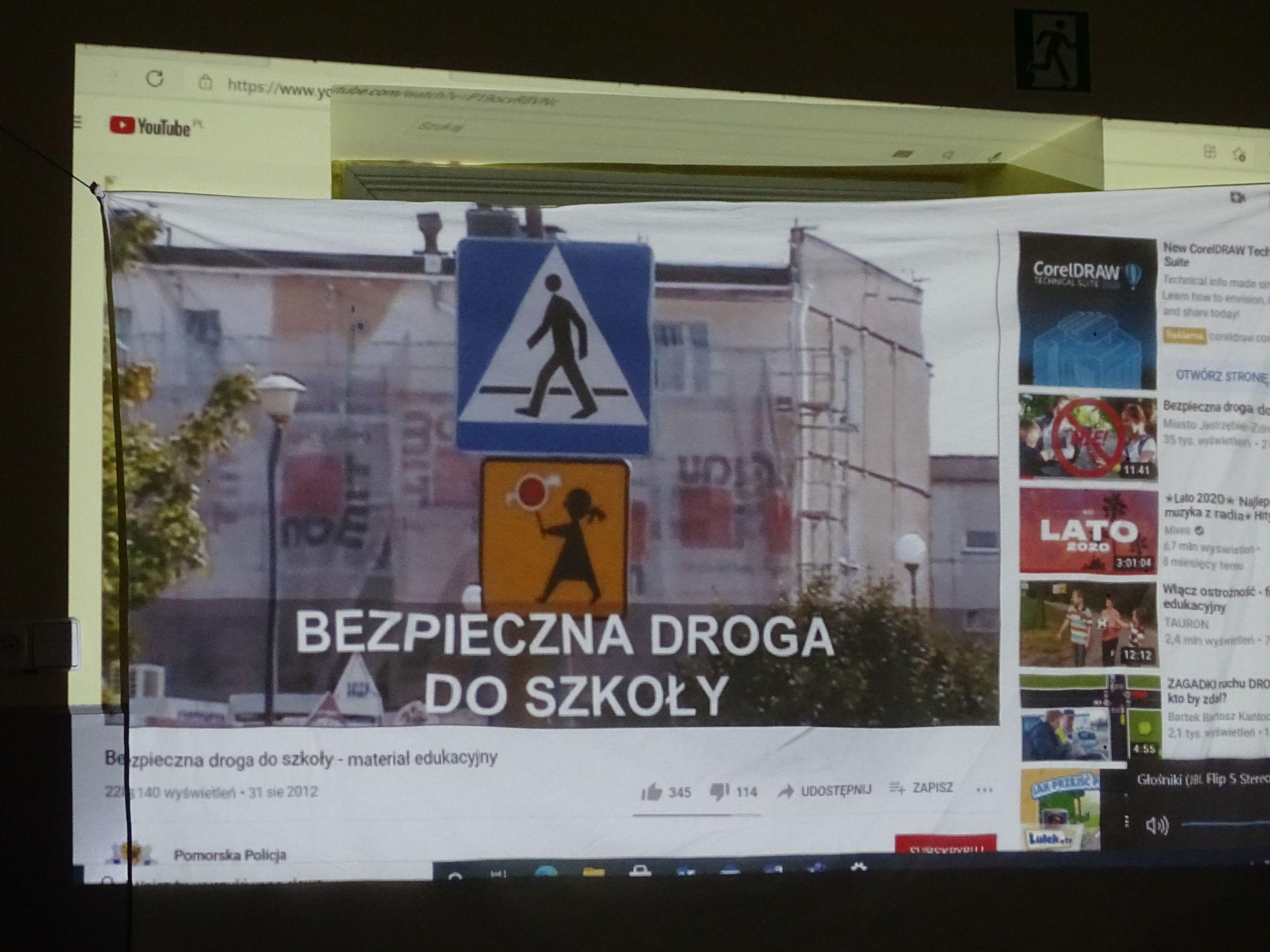 Prezentacja Bezpieczna droga do szkołya